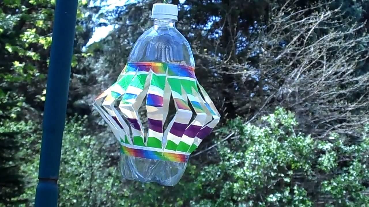 Homemade Wind Spinner From A Plastic Bottle Youtube
