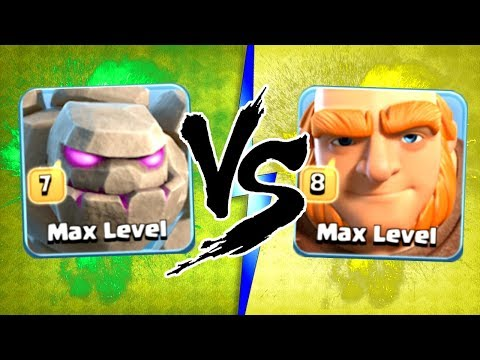 """""""THE TRUTH!"""" NEW MAX LEVEL 7 GOLEMS vs MAX LEVEL 8 GIANTS!! - Clash Of Clans"""