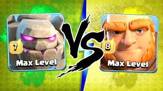 """THE TRUTH!"" NEW MAX LEVEL 7 GOLEMS vs MAX LEVEL 8 GIANTS!! - Clash Of Clans"