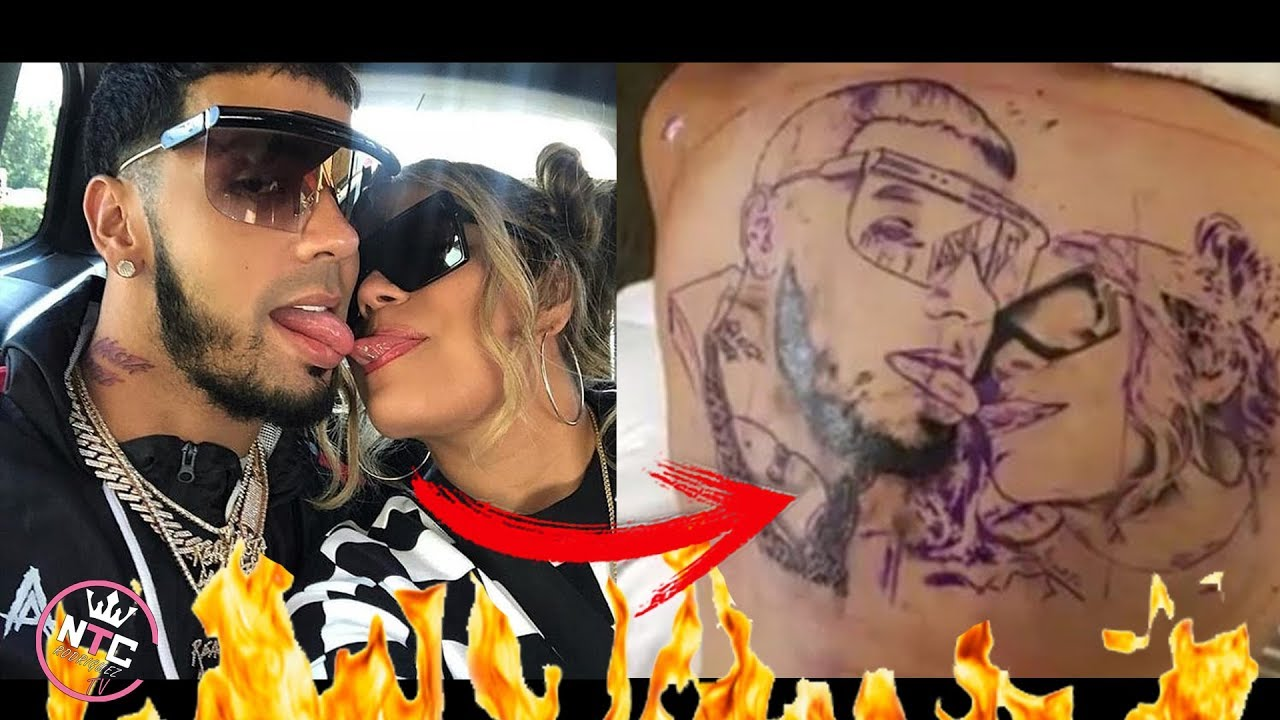 Anuel aa y karol g tatuaje