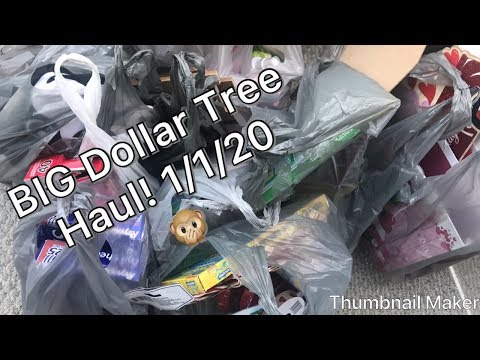 EXTRA LARGE Dollar Tree Haul! First Of 2020!