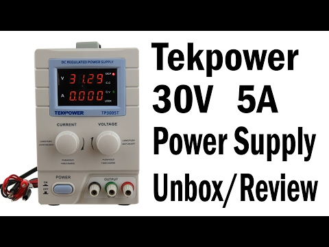 Unboxing and Review of the TekPower TP3005T Linear Variable DC Power Supply
