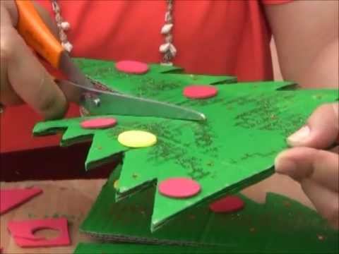 Arbol de navidad con cart youtube - Como hacer un arbol de navidad de carton ...