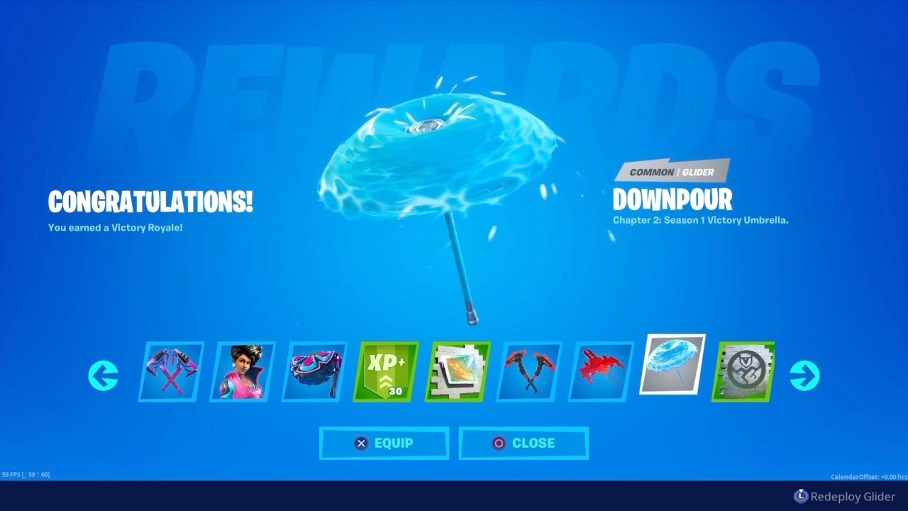Firstdrop Fortnite Chapter 2 Season 1 Battle Pass Victory Royale Umbrella