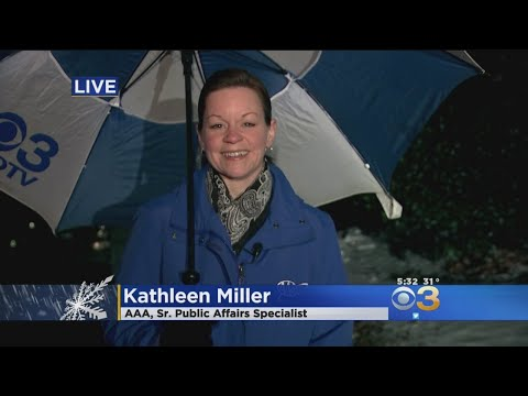 AAA's Kathleen Miller Offers SafeDriving Tips During Wintry Mix