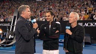 Watch Will Ferrell Ask Roger Federer Bizarre Questions As Ron Burgundy