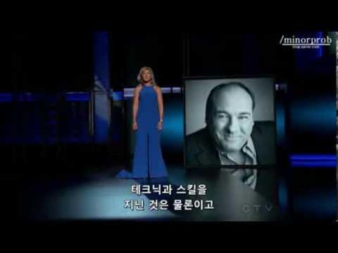 Edie Falco gives Tribute to James Gandolfini (Korean sub)