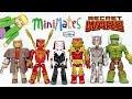 Marvel Minimates Secret Wars Iron Spider-Man Hulk Iron Man Ultron Wolverine & Spider-Gwen Unboxing