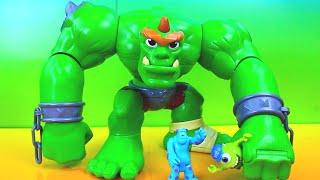 Imaginext Castle Ogre goes to Monsters University Bane Joker take over Just4fun290