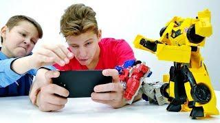 Видео с Трансформерами - Автоботы и телефон Десептиконов - Игры видео.