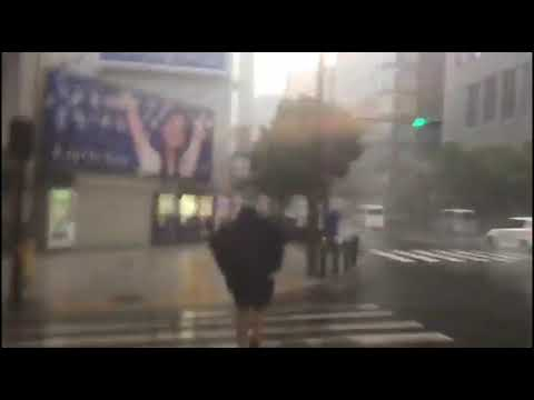 Así vivió un grupo de lucenses el tifón Jebi en Japón