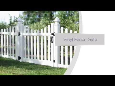 Ready To Assemble Vinyl Fence Gate Installation Overview