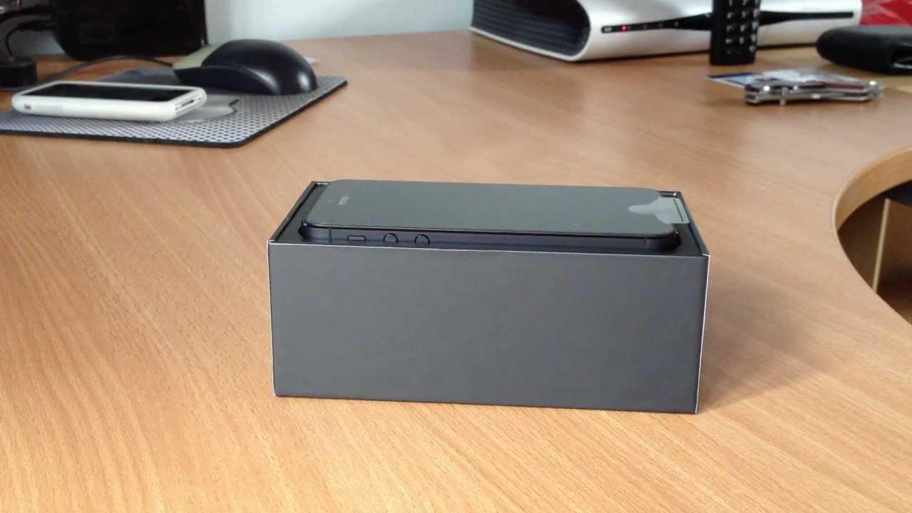 IPhone 5 Unboxing 16GB Black Slate