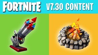 Everything NEW in FORTNITE v7.30 Content Update - Bottle Rockets, Campfires and more!