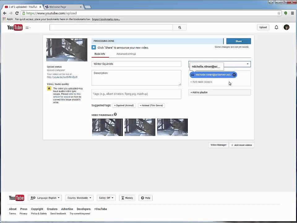 Upload video to youtube and attach to template youtube upload video to youtube and attach to template pronofoot35fo Images
