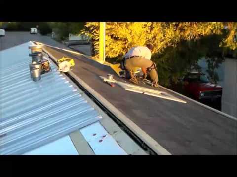 "Installing Metal roof ""Time Lapse"" Menards Roofing"
