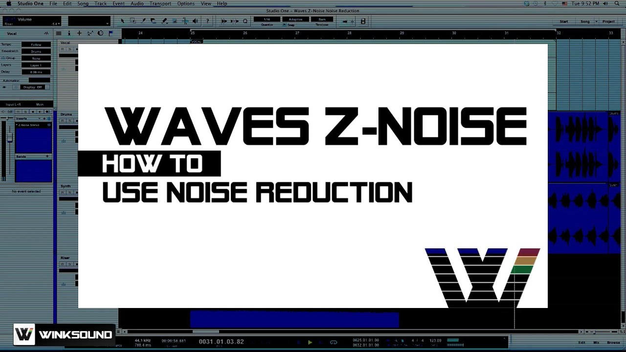Waves Z-Noise: How To Use Noise Reduction | WinkSound
