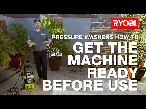 How to set up your RYOBI Pressure Washer