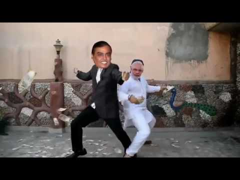 Modi and mukesh ka funny dance vidio