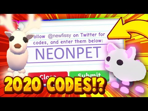 Trying All New Adopt Me Codes March 2020 In Roblox For Free Legendary Pets Youtube