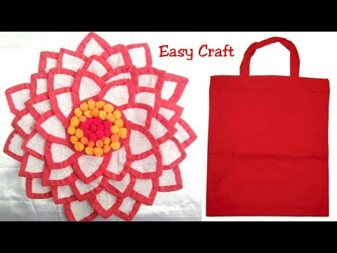 Best use of shopping bags /how to make bag craft idea of Door mat