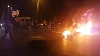 הפגנה הפגנת תושבי תושבים שדרות על הפסקת אש לאחר ירי רקטה רקטות הסלמה דרום חמאס עזה