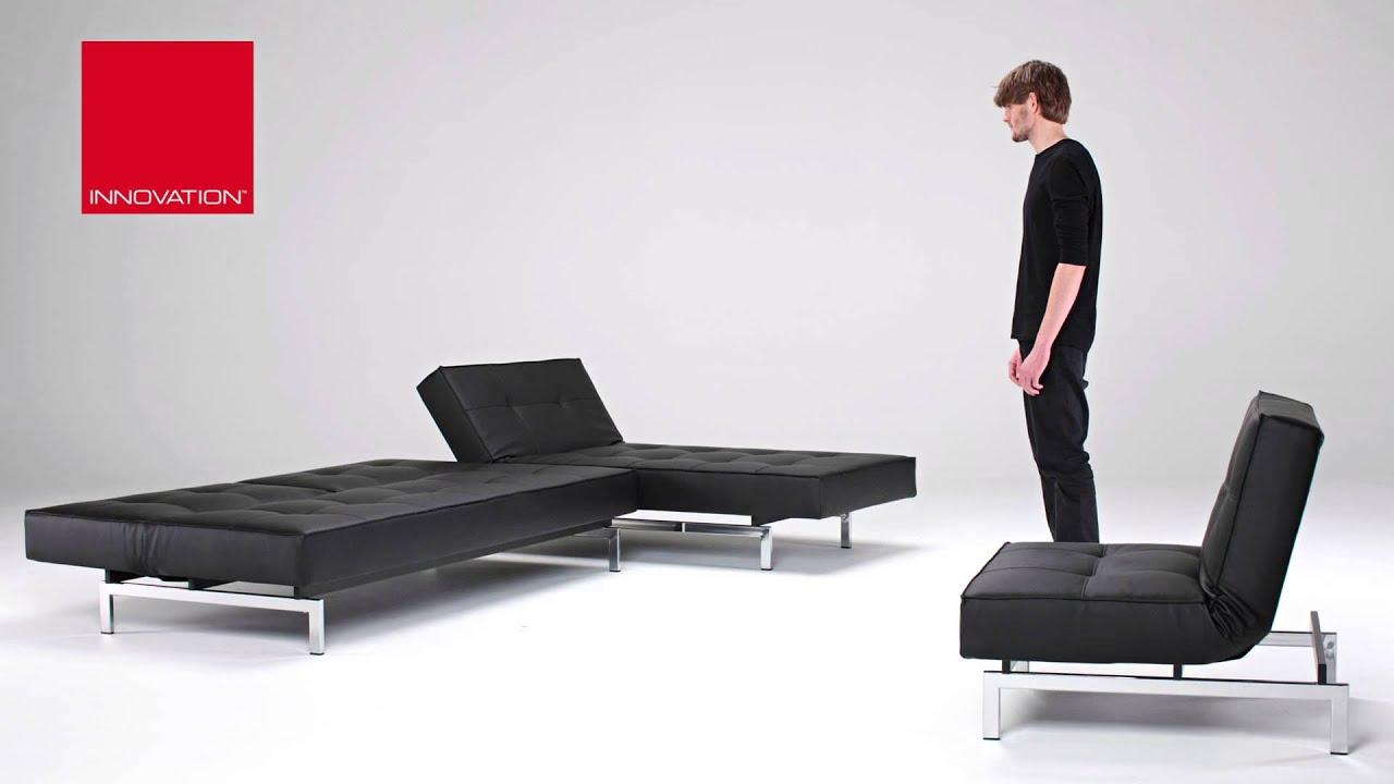 Splitback Schlafsofa Lounger Sessel Von Innovation Mit Chromfüßen