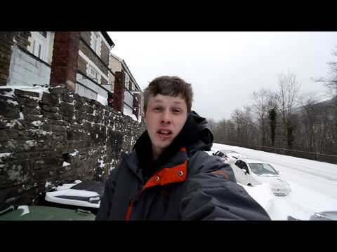 Abertillery in the snow Vlog march 2nd 2018