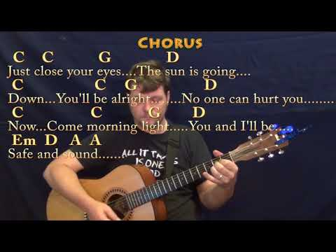 Safe and Sound (Taylor Swift) Guitar Lesson Chord Chart with Chords/Lyrics