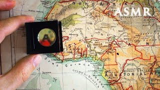 ASMR Deep Voice Reading Maps from 1895 Atlas - using Loupe