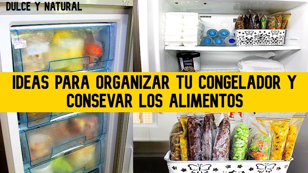 CONGELADOR desordenado? ahorraremos espacio y conservaremos  alimentos por MESES /dulce y natural.