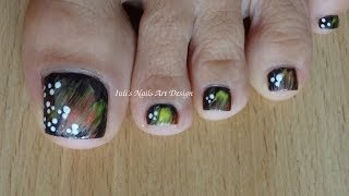 toes art design tutorial for beginners using a real feather as a nail art brush