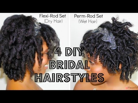8 Bridal/ Formal Hairstyles For Medium Length Natural Hair ( Style 1-4)