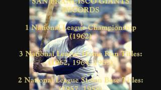 Willie Mays - S.F. Giants Highlights (Original Broadcast Audio)