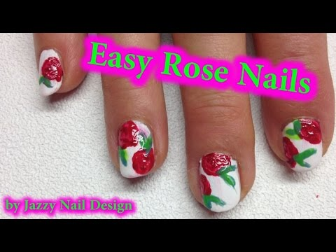 easy rose nail art outstanding nails in 5 minutes for