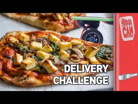 Electric Skateboard Pizza Delivery Challenge   FridgeCam