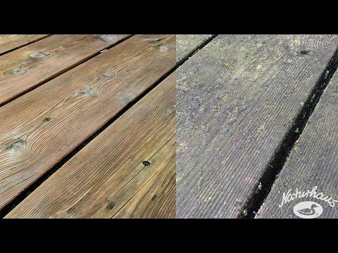 Gut bekannt Entgrauen von Holz mit Holzfrisch - YouTube GT31