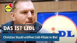 Christian Stucki eröffnet Lidl-Filiale in Biel | Loeb-Warenhaus | Lidl Schweiz