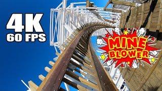 4K 60 FPS Mine Blower Roller Coaster! AWESOME Multi Angle POV! GoPro Hero 6 Fun Spot America Orlando