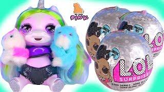 #КОТЯТА + СЮРПРИЗЫ ЛОЛ ДЛЯ ЕДИНОРОЖКИ! LOL Surprise Dolls Распаковка! Блестящие Куклы