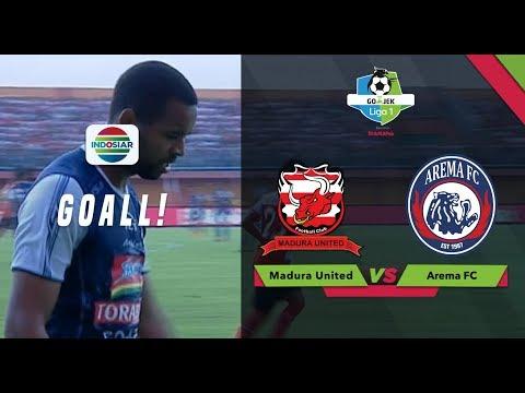 Goal Thiago Furtuoso - Madura United (1) vs (2) Arema FC | Go-Jek Liga 1 bersama Bukalapak