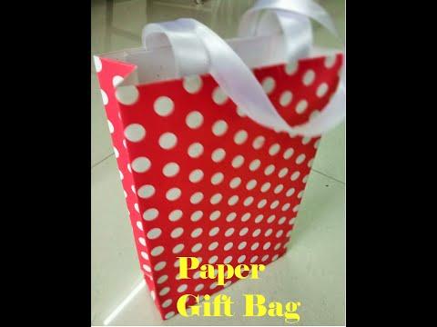 DIY Crafts: Paper gift bag making tutorial | easy paper crafts | bag making at home