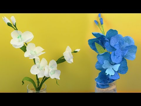How to Make a Paper Orchid Flower DIY Craft Projects for Beginner - Origami Orchid Flower
