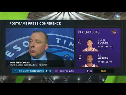 Tom Thibodeau following loss to the Suns