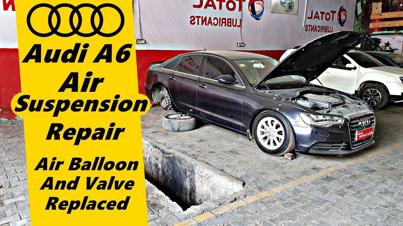 Audi A6 Air Suspension Repair | Air Balloon & Control Valve Changed