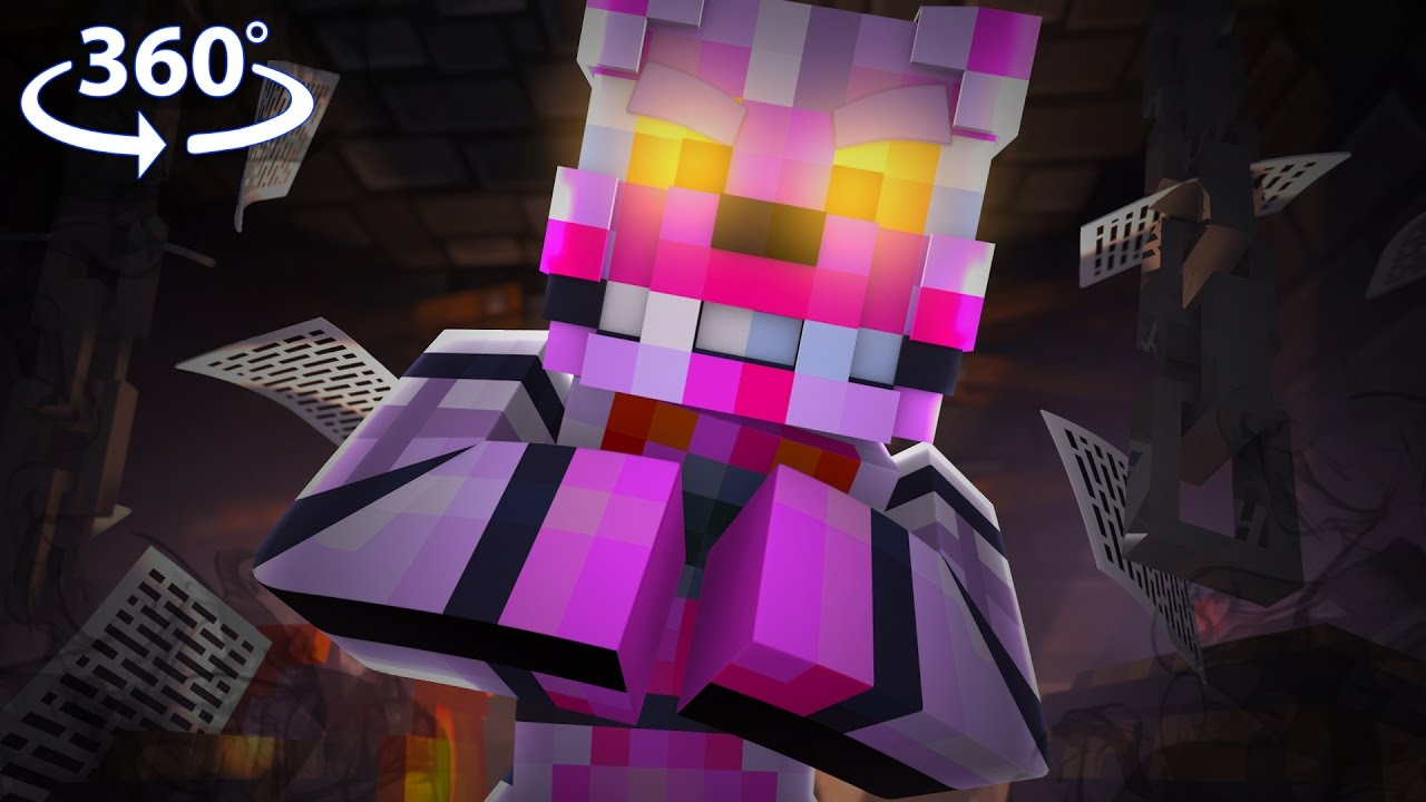 Five Nights At Freddy's - FUNTIME FOXY VISION! - 360° Minecraft Video