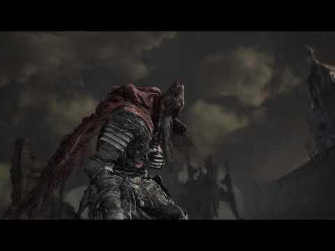 Slave Knight Gael, flawless NG+7 unbuffed broken broken straight sword kill