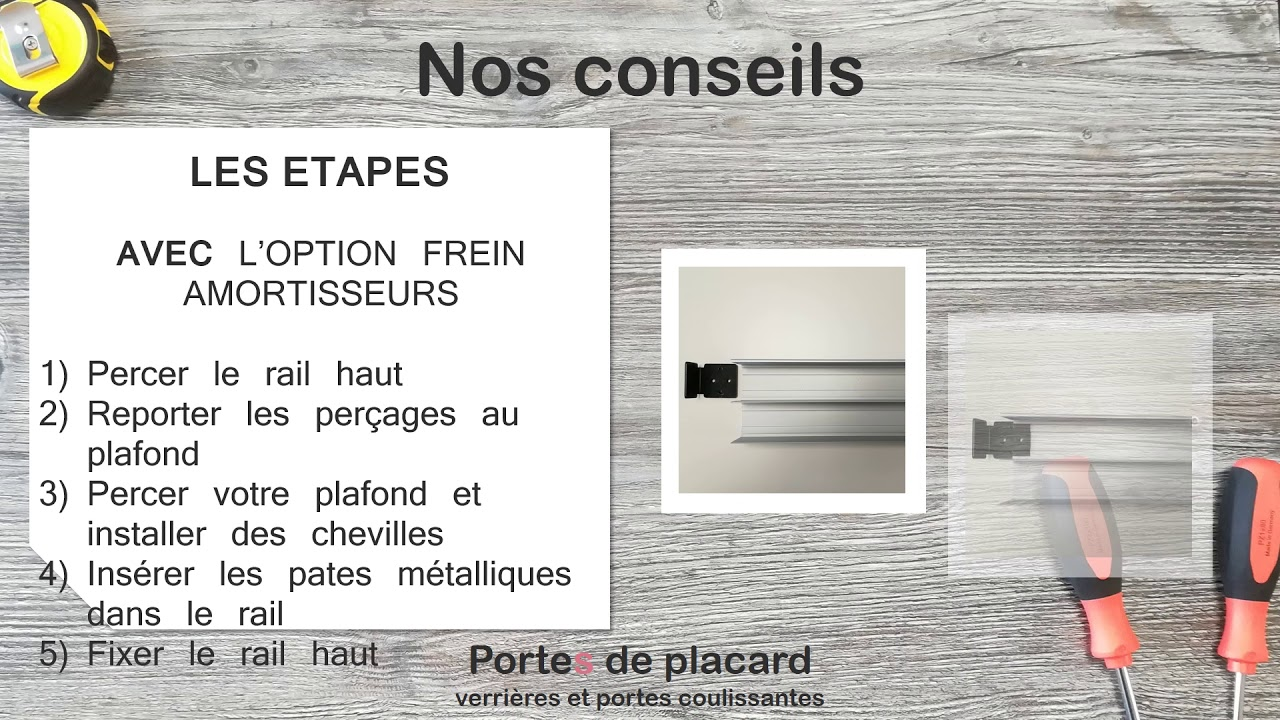 Placard À Portes Coulissantes montage des portes coulissantes sga - youtube