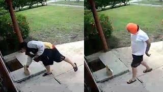 Guy Delivers Food and then Steals It