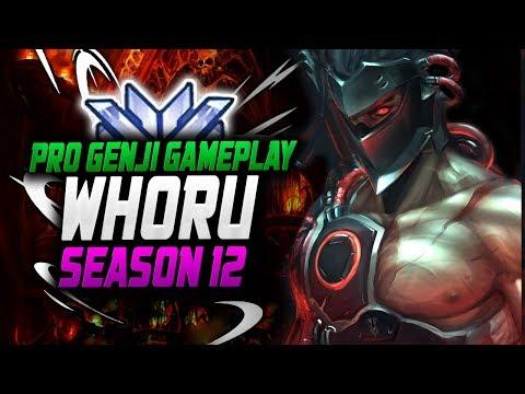 Amazing Genji Gameplay - Whoru! 4200 SR [ OVERWATCH SEASON 12 TOP 500 ] thumbnail
